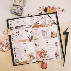 Last week in the Bullet Journal. At least waking up early means you can click pictures in natural light. by http://ift.tt/1PhMQYv