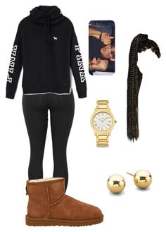 """""""Omarion//: Post To Be"""" by queen-miy ❤ liked on Polyvore featuring Victoria's Secret, UGG Australia and Fendi"""