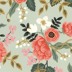 Inspriation of colors/pattern. Wish it came in bedding rather than just paper! Rifle Paper - Birch Print   - Scrapbook Paper