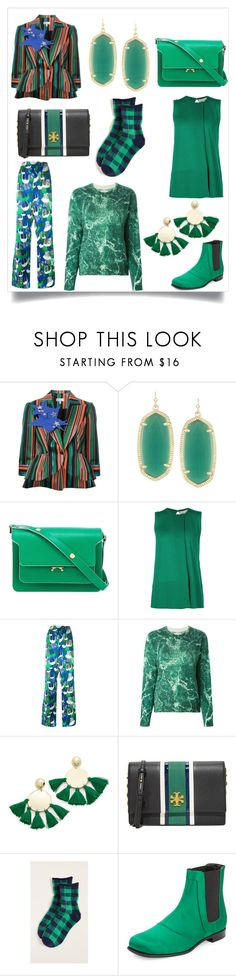 """down to earth"" by emmamegan-5678 ❤ liked on Polyvore featuring Delpozo, Kendra Scott, Marni, STELLA McCARTNEY, Dsquared2, Each X Other, Shashi, Tory Burch, Plush and Roger Vivier"