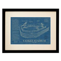 BALLPARK BLUEPRINTS | Baseball Wall Art, Yankee, Fenway, Wrigley, AT, Tiger, Ebbets | UncommonGoods