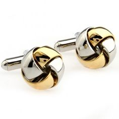 Gold and silver Slippy Metal Knot Cufflinks,Wholeale cufflink settings
