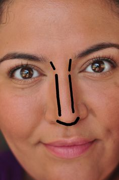 how to contour nose to appear smaller