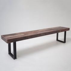 the style is great. dark wood with raw steel.  bench, desk, table, counter.