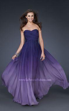 La Femme purple ombre chiffon.