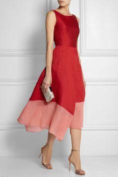 Antonio Berardi draped satin and crepe dress, pink and red Casual Dresses, Short Dresses, Fashion Dresses, Formal Dresses, Sleeveless Dresses, Prom Dresses, Quinceanera Dresses, Antonio Berardi, Pretty Dresses