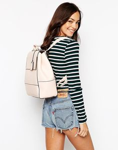 New Look Flip Lock Backpack by ASOS {love pink!}