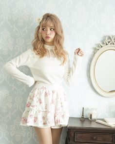 【Reservation】 Choker style scallop tops | Shibuya 109 popular Girlie Fashion Liz Lisa official mail order