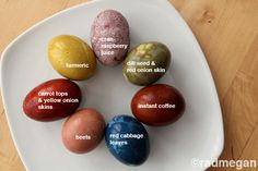 Awesome ideas on how to dye eggs with natural plant dyes