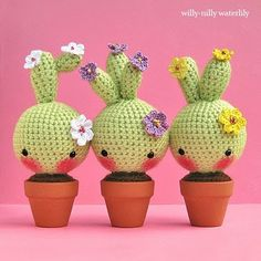 Amigurumi Inspiration: Bashful Blooming Cacti by Willy-Nilly Waterlily at Etsy