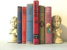 Decorative Vintage multi colored Youth book lot by HellwarthVintageCo on Etsy