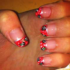 Flower nail design I just did (: