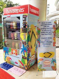 Havaianas Vending Machine in Central Park Mall, Jakarta