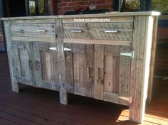 Muebles de palets: Idea de cómoda hecha con tablas de palets
