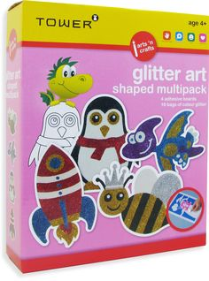 njoy all your favourite designs in one pack! These multipacks are the ultimate 'edutainment' product that will keep kids entertained for hours while having fun learning! Office Organisation, Glitter Art, Colour Board, Fun Learning, Have Fun, Arts And Crafts, Africa, Tower, Entertaining