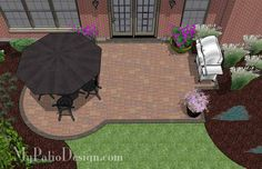 The Patio Design. Simple yet unique, the Small Paver Patio Design will help you seamlessly build a beautiful and colorful outdoor living area. Downloadable plan.