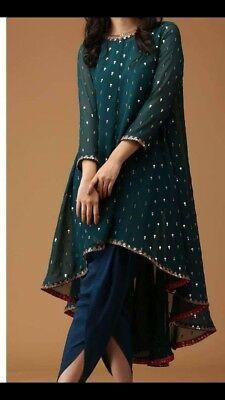 - Indian Satin Dhoti Shalwar Georgette Sequins Embr Kameez suit Ethnic wear dress Source by farhadkhalfey - Pakistani Fashion Party Wear, Pakistani Formal Dresses, Indian Gowns Dresses, Pakistani Dress Design, Pakistani Outfits, Party Wear Indian Dresses, Shadi Dresses, Girls Party Wear, Pakistani Clothing