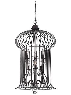 Abagail 6-Light Foyer Lantern in Forged Black   House of Antique Hardware