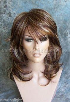 3 tonos profundos Auburn/Cobre/rubia Multi Capas Med/larga Nirvana Sarah Peluca | Belleza y salud, Peinado y cuidado del cabello, Extensiones y pelucas | eBay!