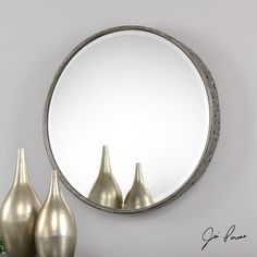 Found it at Wayfair - Round Metal Mirror