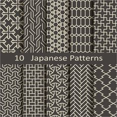 Sashiko Fabric - Plumeria Floating on Water - Sylvia Pippen Sashiko Pre-printed Fabric Kit - Japanese Embroidery, Quilting, Sewing - Embroidery Design Guide Geometric Patterns, Textures Patterns, Fabric Patterns, Print Patterns, Embroidery Patterns, Hand Embroidery, Style Patterns, Japanese Textiles, Japanese Patterns