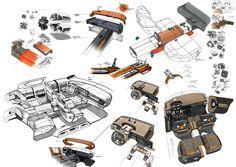 Gashetka | Transportation Design | 2015 | Citroen Aircross | Design Development:...