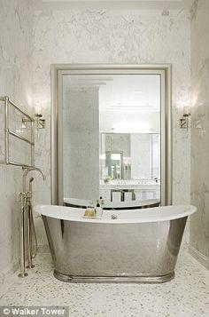 32 Small Bathroom Design Ideas for Every Taste - The Trending House Bathroom Storage, Small Bathroom, Master Bathroom, Silver Bathroom, Relaxing Bathroom, Bathroom Plumbing, Plumbing Fixtures, Bathroom Art, Bathroom Interior