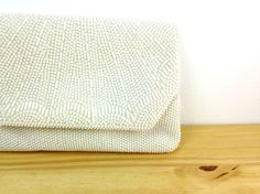 Vintage White Beaded Purse / Small Handbag / by VintageEdition