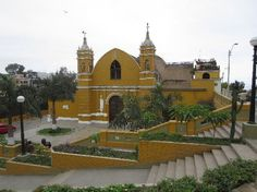 I really like photos like this church in a neighborhood called Barranco in Lima, Peru - ocean and hillside views