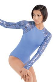 Sequin Lace Sleeve Leotard - Balera - Product no longer available for purchase Dance Moms Costumes, Dance Outfits, Jazz Pants, Dance Wear Solutions, Pullover Shirt, Beautiful Costumes, Dance Fashion, Dance Leotards, One Piece Swimwear