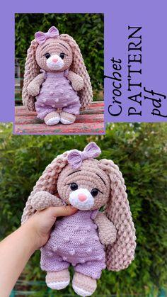 Crochet Animal Patterns, Crochet Patterns Amigurumi, Crochet Dolls, Amigurumi Toys, Simple Crochet Patterns, Bear Patterns, Doily Patterns, Dress Patterns, Crochet Deer