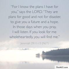 Jeremiah 29:11-13 (NLT)