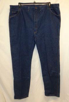 Wrangler Denim Blue Jean 52x34 Big & Tall Dark Wash 100% Cotton  #Wrangler #ClassicStraightLeg