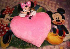 Купить Плюшевое сердце - розовый, подарок, День Святого Валентина, День всех влюбленных