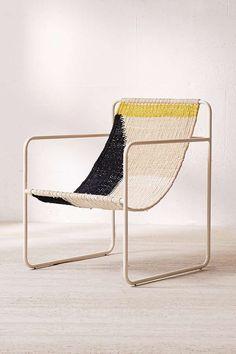 Slide View: 2: Kimball Colorblock Macrame Sling Chair