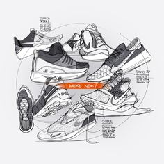 Sketches we like / Sneakers / Greyscale / Nike