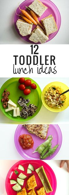 12 Toddler Lunch Ideas. Need inspiration? Check out some of these ideas for balanced lunches.