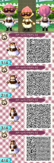 Animal Crossing: New Leaf: SteamPunk (Steam Punk) Dress QR Code
