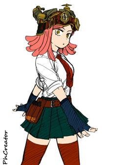 BnH Academia - Hatsume by PhCreator on DeviantArt
