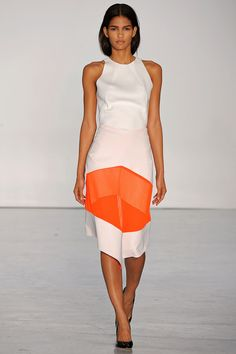 a little orange gives this style so much attraction! #fashion #style, Dion Lee, Spring 2013 RTW - London Fashion weeks