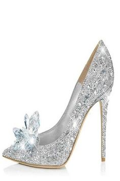 2018 New Glitter Rhinestone High Heels Cinderella Shoes Women Pumps Pointed toe . 2018 New Glitter Rhinestone High Heels Cinderella Shoes Women Pumps Pointed toe Woman Crystal Wedding Shoes Zapatos Muje. Stilettos, High Heel Pumps, Pumps Heels, Stiletto Heels, Heeled Sandals, Bling Heels, Glitter Heels, Platform Pumps, Rhinestone Wedding Shoes