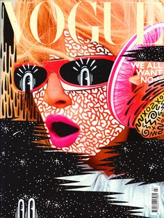 HATTIE STEWART'S MAGAZINE ILLUSTRATIONS    British artist Hattie Stewart challenges the monotony of fashion publications covers with her cheeky interpretations. She takes her love for the print world to another step by using magazine