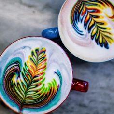 Cafés multicoloridos, é o que temos para hoje