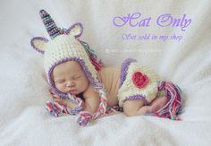 My Little Unicorn Crocheted Hat Made to Order by CrafTinaCreations, $25.00