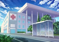 Hospital Episode Interactive Backgrounds, Episode Backgrounds, Anime Backgrounds Wallpapers, Anime Scenery Wallpaper, Scenery Background, Animation Background, 2d Game Background, Hospital Anime, Katsura Kotonoha