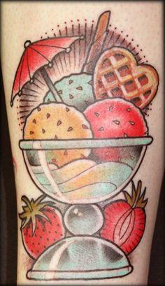 ice cream tattoo by sebastian domaschke