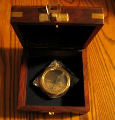 RMS TITANIC 1912 Brass Pocket Compass with TEAK by shoretrader