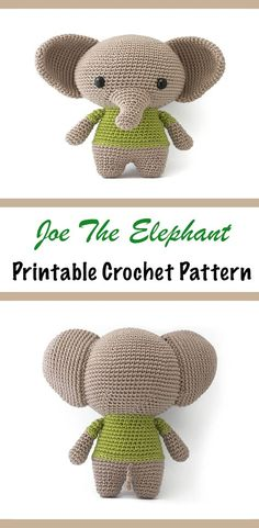 Joe the Elephant amigurumi crochet pattern PDF #ad#amigurumi#amigurumidoll#amigurumipattern#amigurumitoy#amigurumiaddict#crochet#crocheting#crochetpattern#pattern#patternsforcrochet#printable#instantdownload#pdf