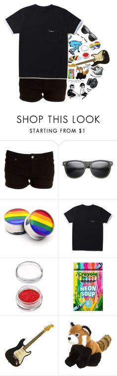 """REAL NEWS"" by infizity ❤ liked on Polyvore featuring ZeroUV, Dr. Martens, Itsy Bitsy, Converse and Nikon"