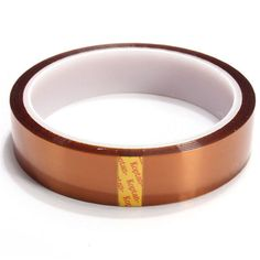 Free shipping 1PCS 20MM X33Meter Heat Resistant Polyimide Tape High Temperature Adhesive Insulation Kapton Tape  Price: 1.86 USD